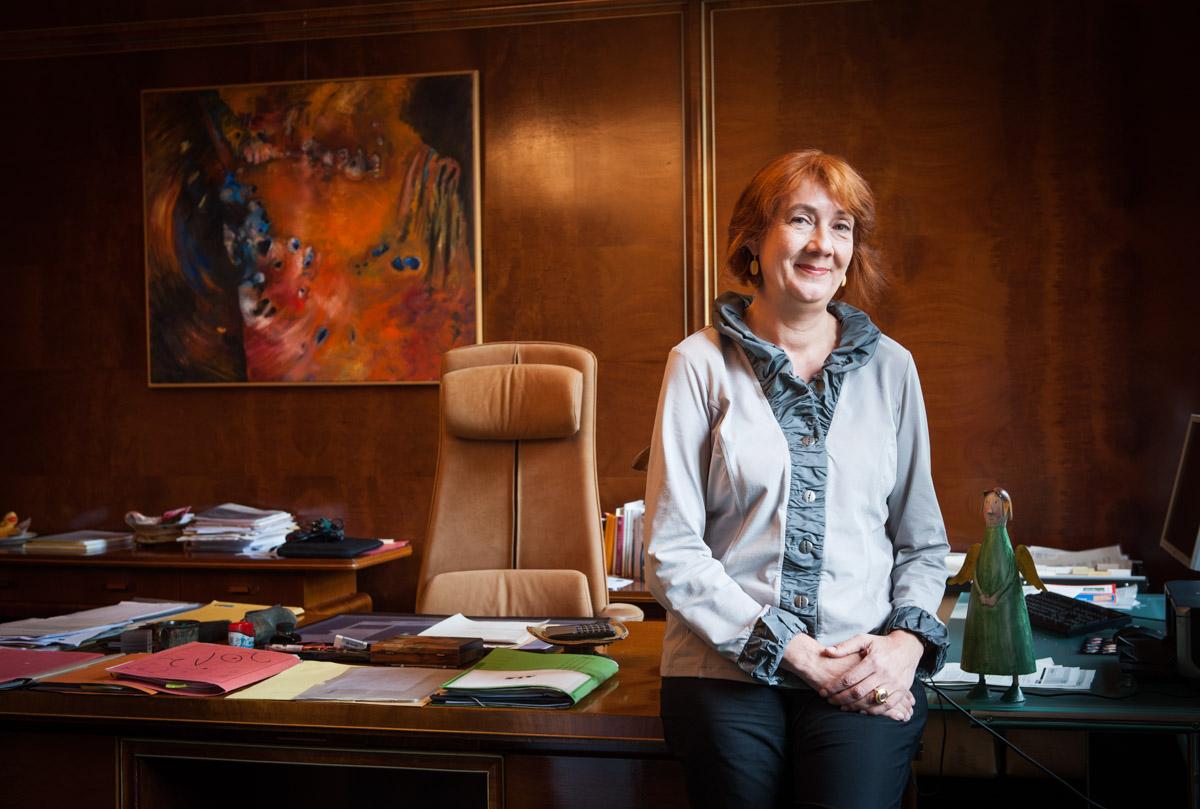 Karoline Linnert, Senatorin für Finanzen, Hansestadt Bremen - für DER SPIEGEL