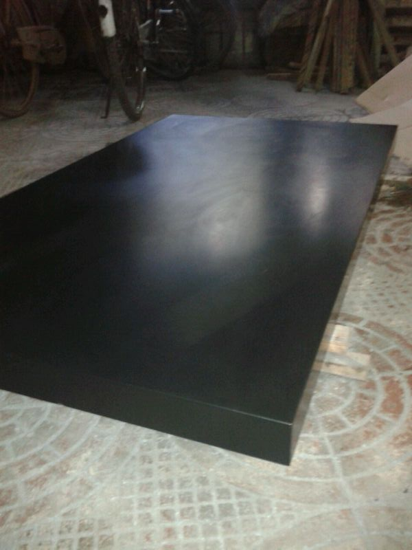 Black solid acrylic surface buffed