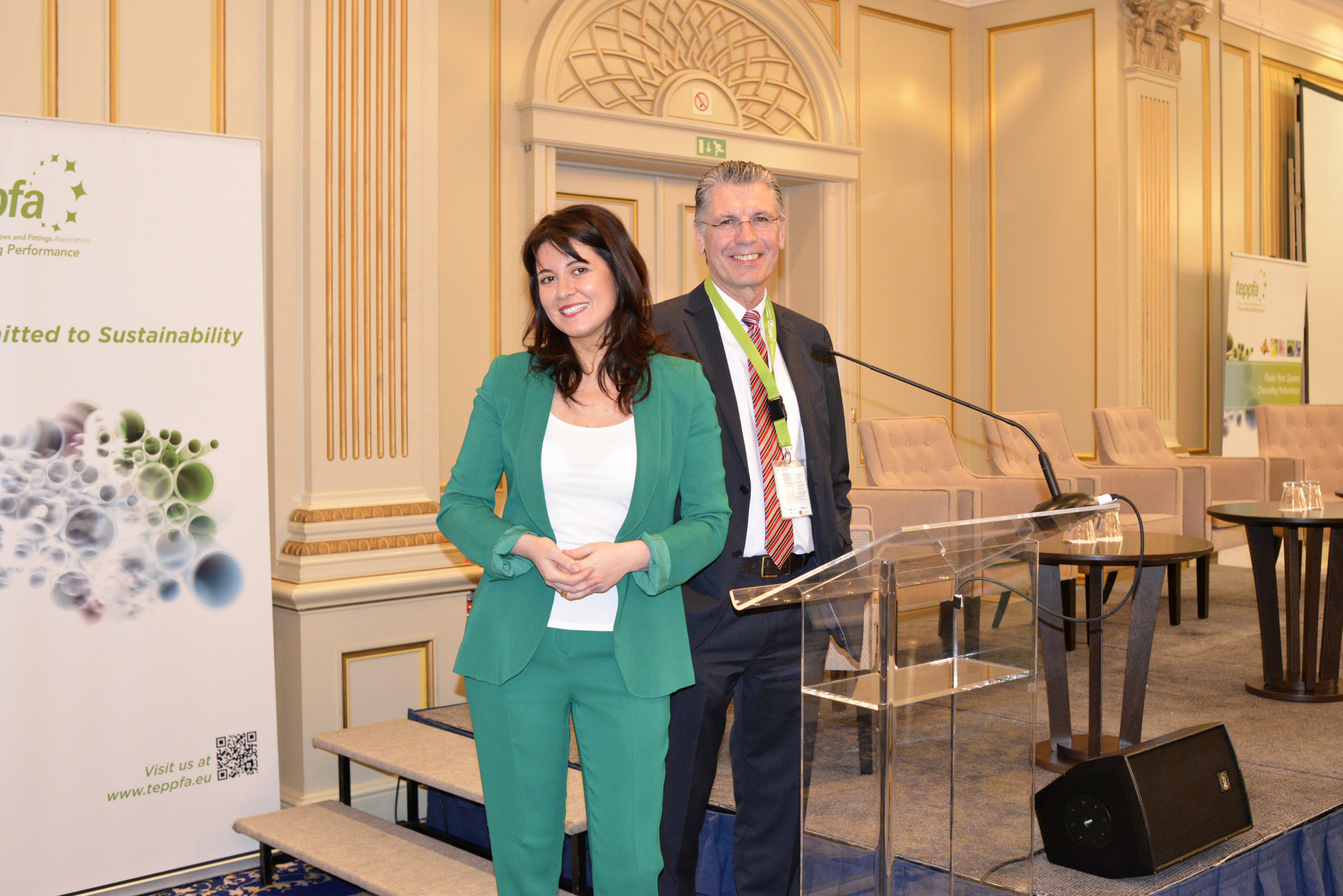 Mr. Tony Calton, TEPPFA General Manager, with Mrs. Claudia Topalli, TEPPFA Deputy General Manager.