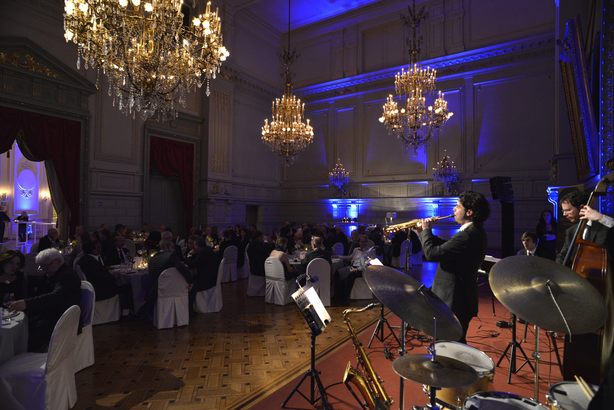 The 25th Anniversary was celebrated with a Big Jazz Orchestra concert and Gala Dinner at the wonderful venue of the Concert Noble at the end of Day 1.