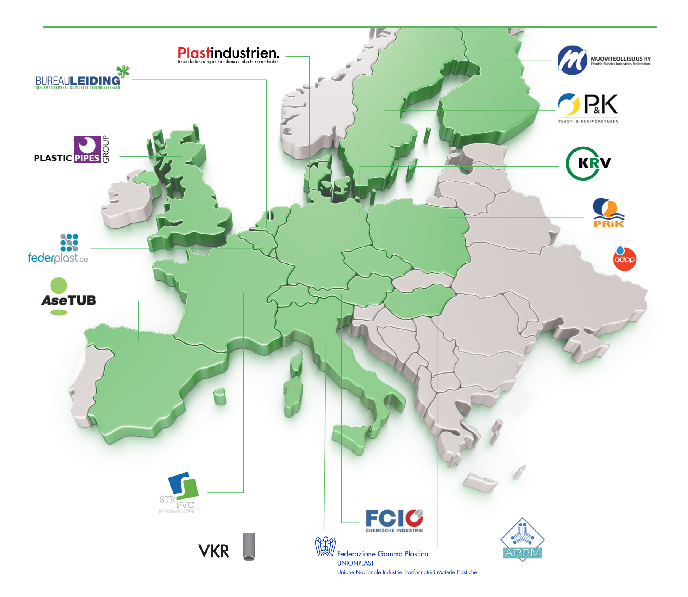The TEPPFA member companies and organisations across Europe