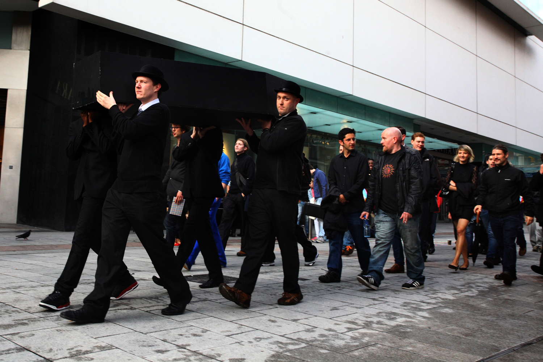 Procession. Henry Street, Dublin.