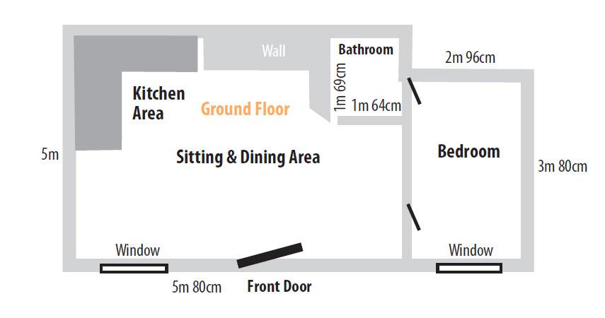 Barn Owl Cottage Ground Floor Layout Plans