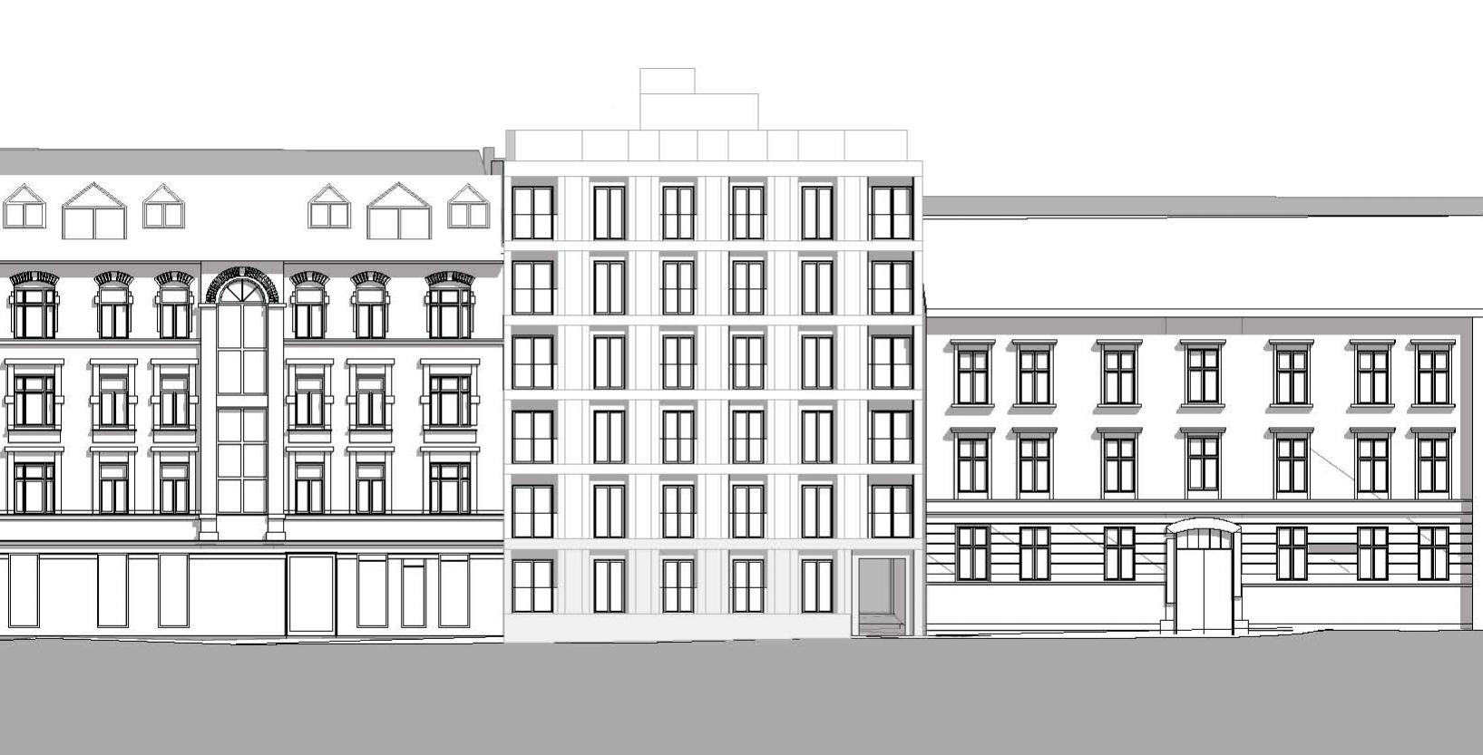 Forslag til fasade