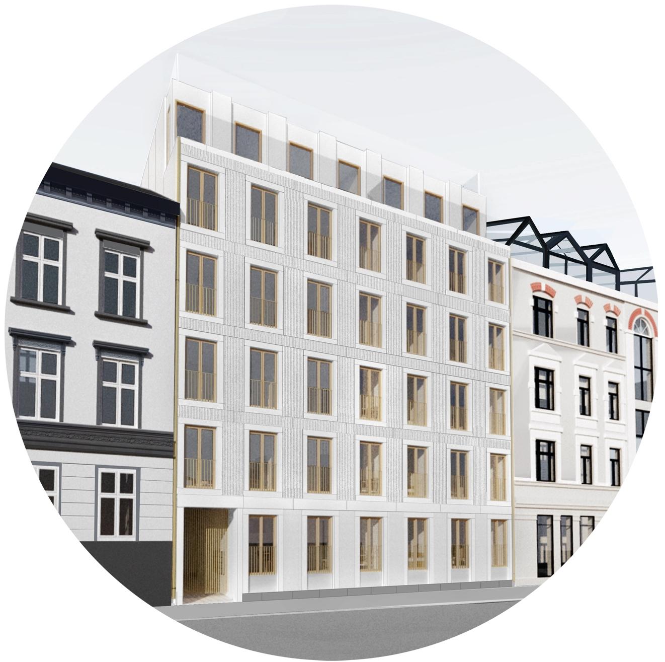 NYBYGG  Et nybygg må ha høy arkitektonisk kvalitet, bare på den måten vil det være bestandig og bærekraftig. Vi har som mål å lage nye bygg som gir mer enn det tar, enten det er snakk om mindre tilbygg,eneboliger, kontor eller leilighetsbygg.