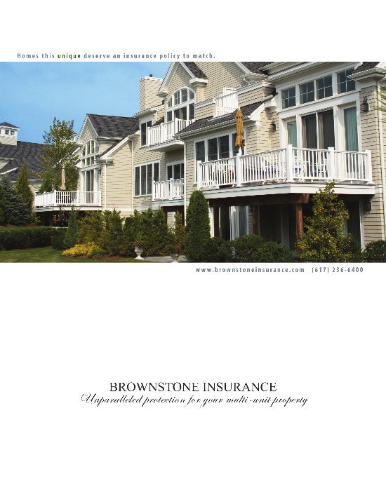 Brownstone Insurance Print Ad