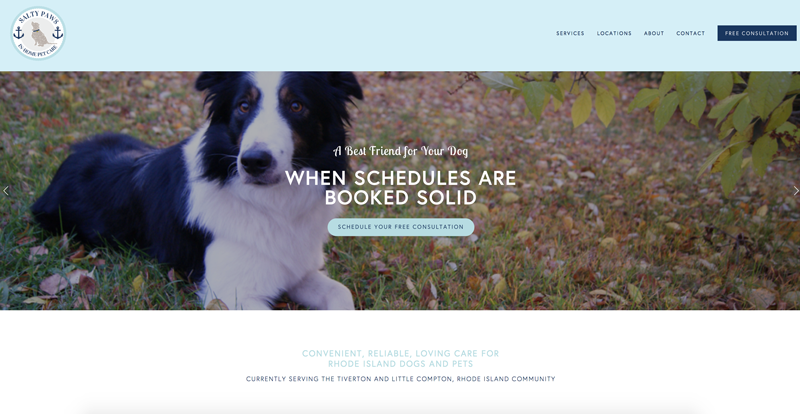 Salty Paws Pet Care: Logo and Web Design