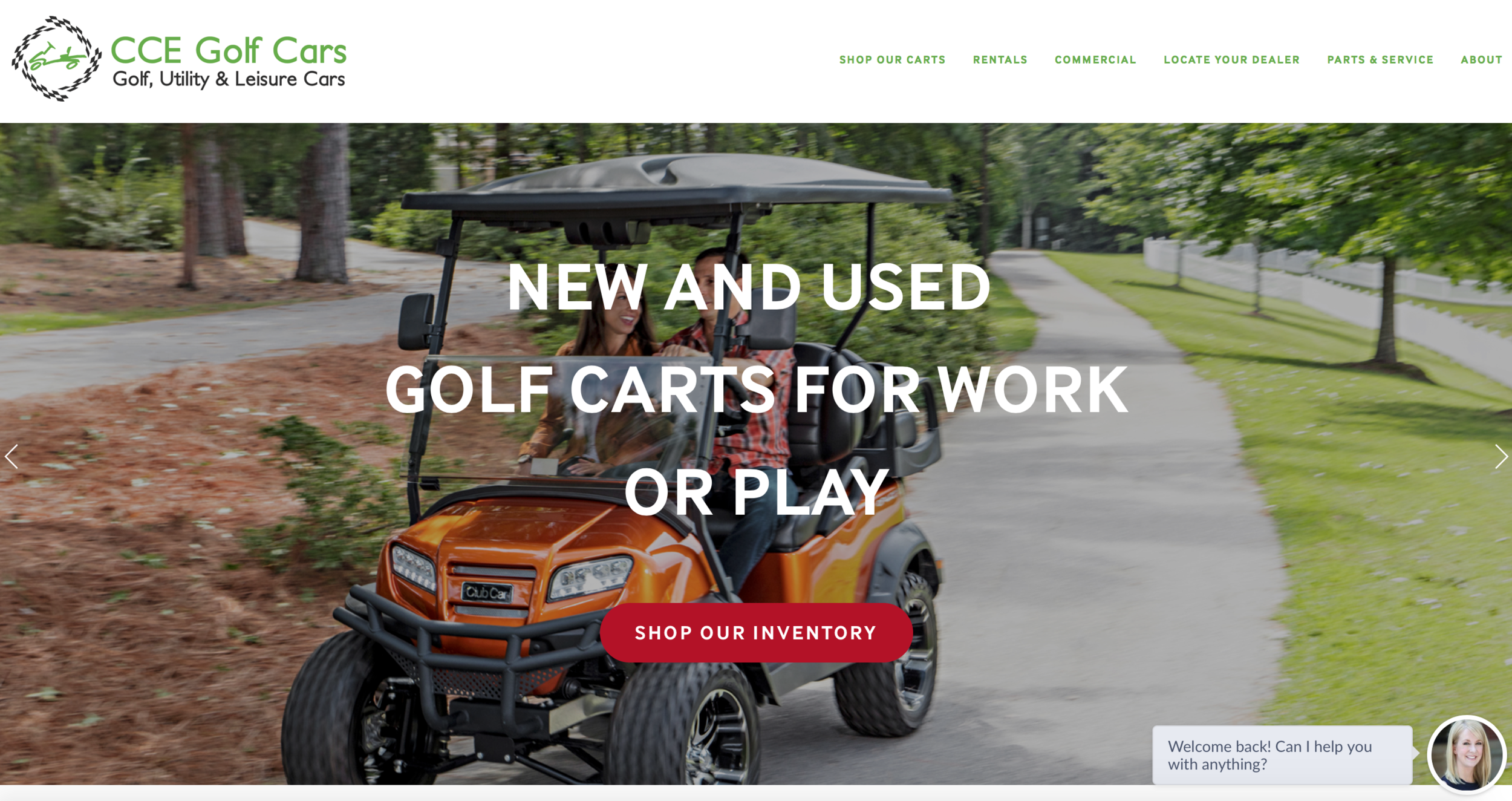 CCE Golf Cars: Logo and Web Design