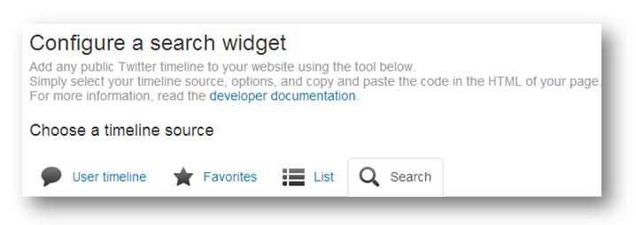 Twitter widget setup