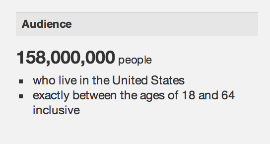Facebook audience in the US from Ad Manager