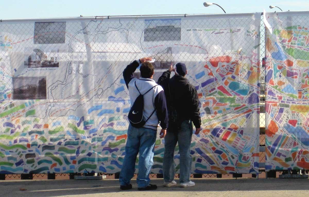 Staten Island Ferry Construction barrier