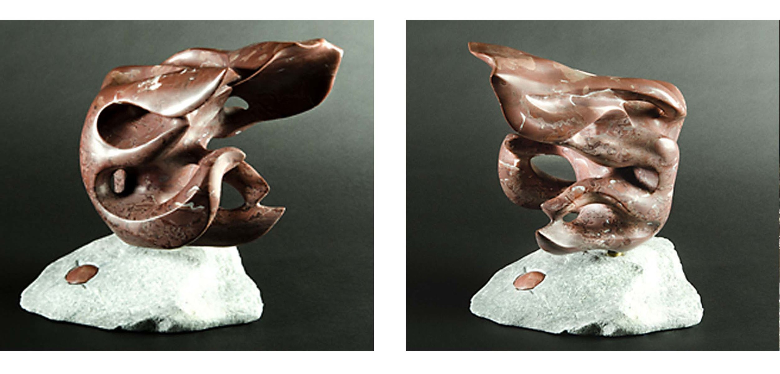 Fingers of the Wind - 14 x 12 x 12 inches - Swanton Red marble - private collection