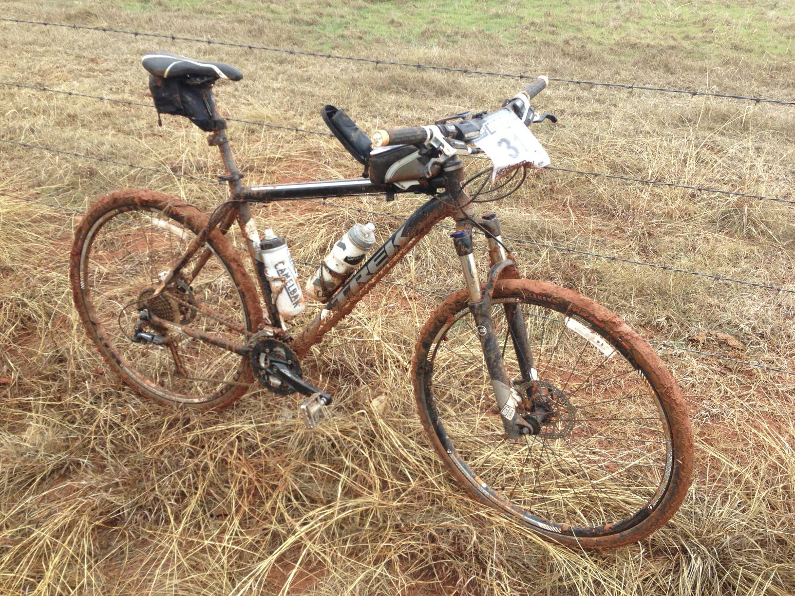 My bike last year on College road AFTER I had scrapped an inch of mud off the tires.