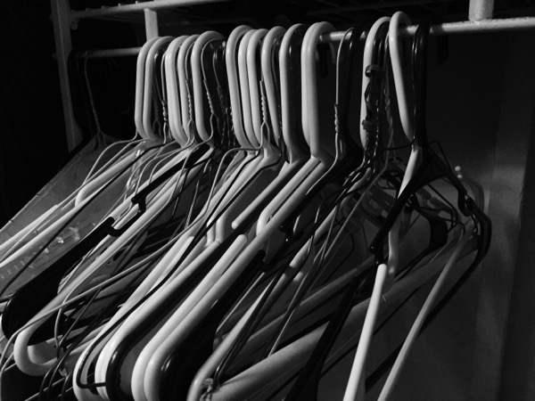 Empty Hangers. These once held shirts I hardly ever wore.