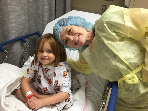Ainsley and Andrea heading back to the operating room