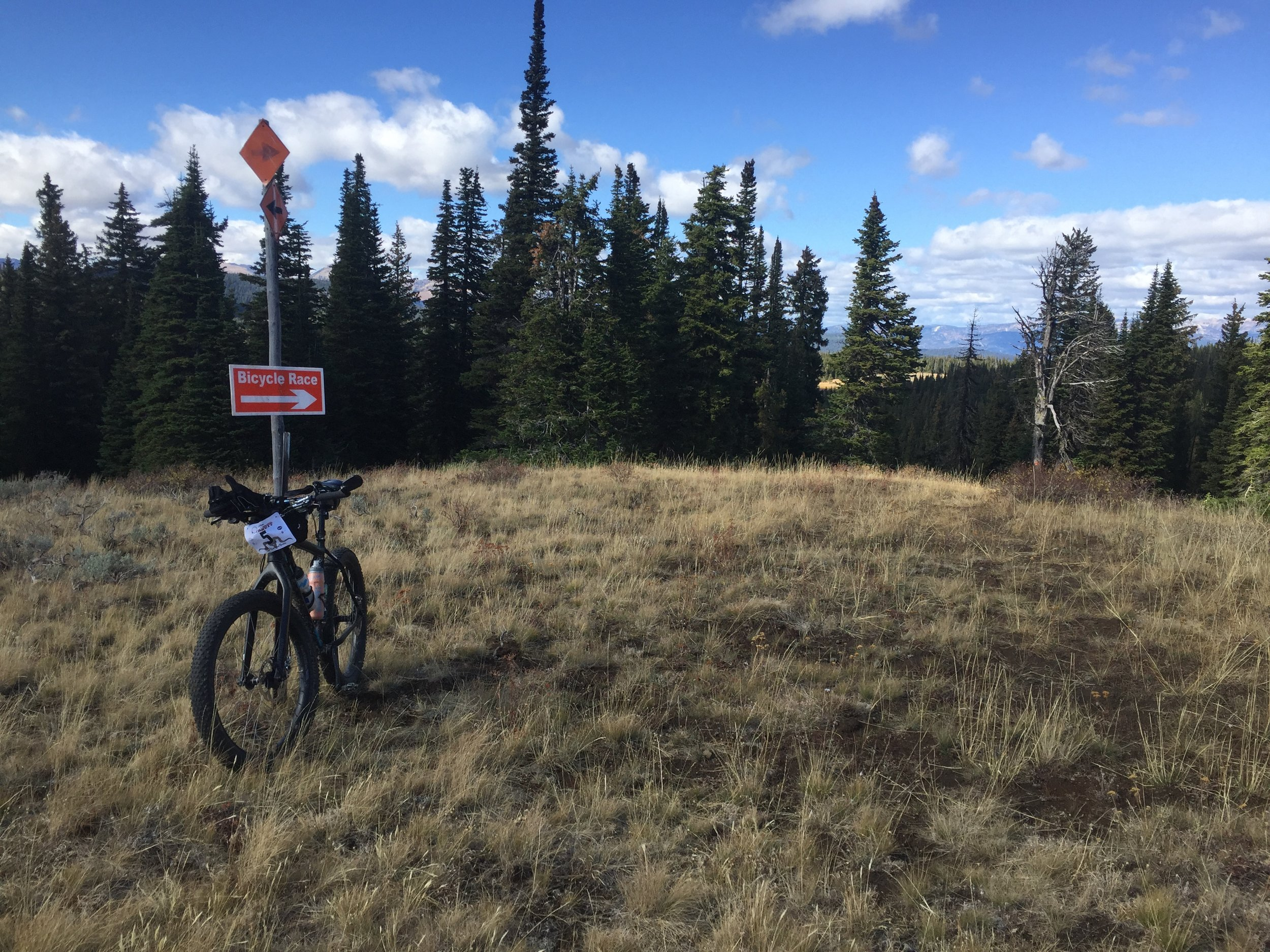 Notice my bike is facing the opposite direction as the sign. I made a wrong turn and ended up riding the north loop backwards. The hike a bike to get to the top took so much energy. Luckily I had a burrito in my pocket.