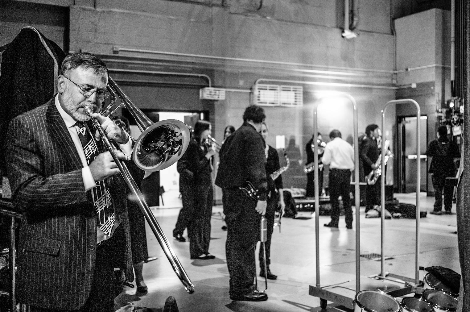Tom Veltre, trombone  by Christopher Rushing