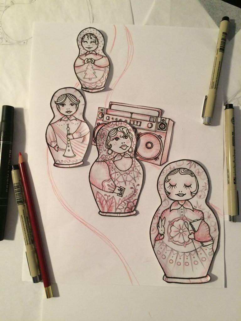 Kristin's cover art, in progress