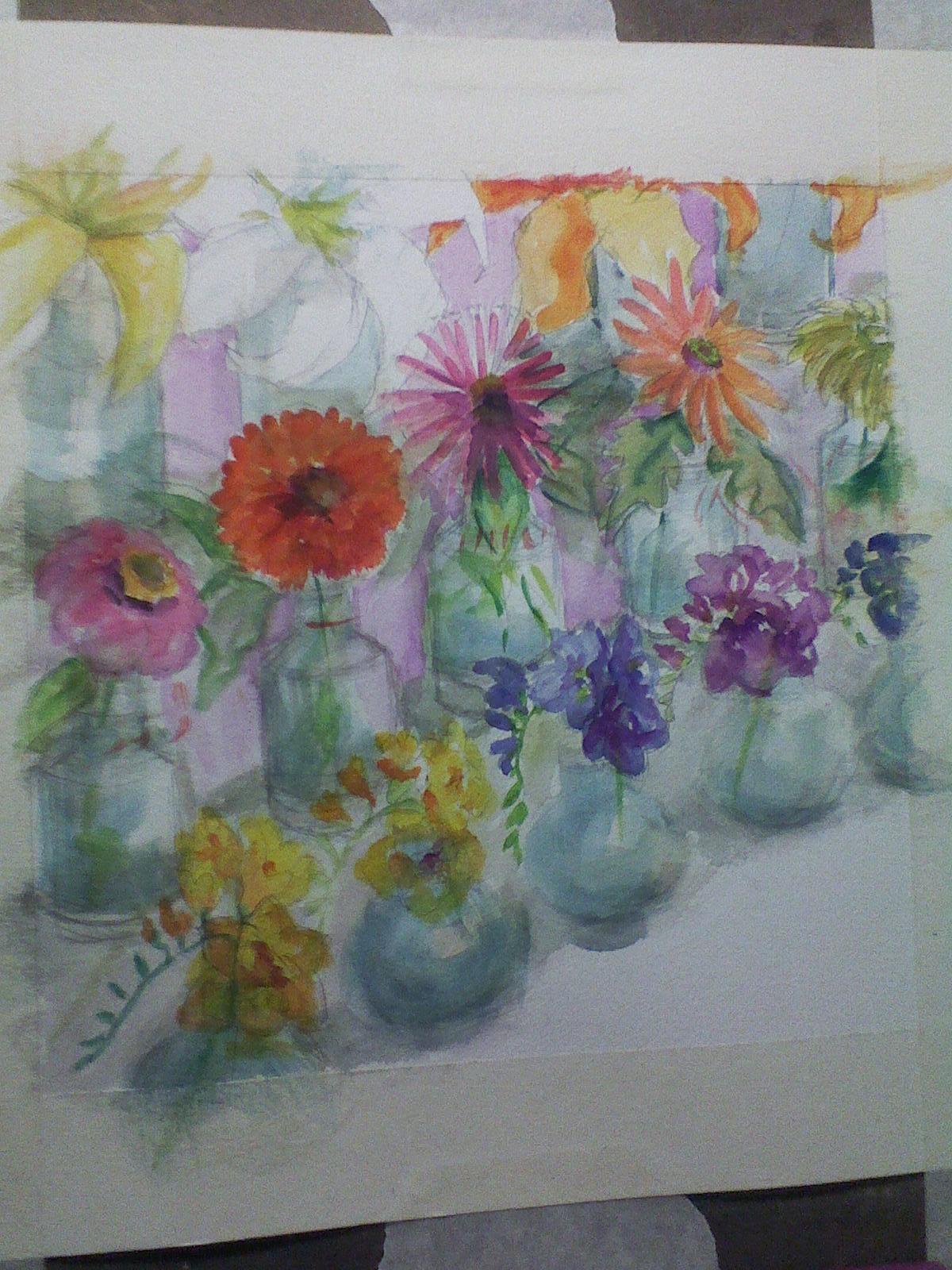 Water-color study of Jill's pencil sketch