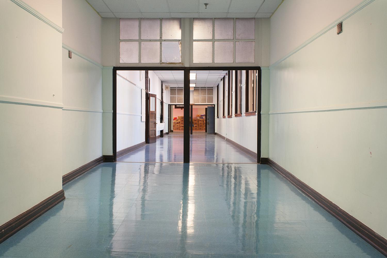 Hallway, Von Humboldt Elementary