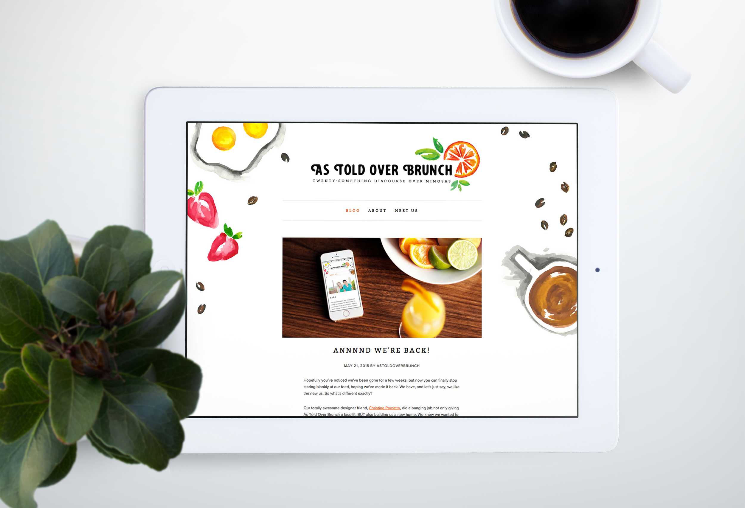 As Told Over Brunch Logo and Website