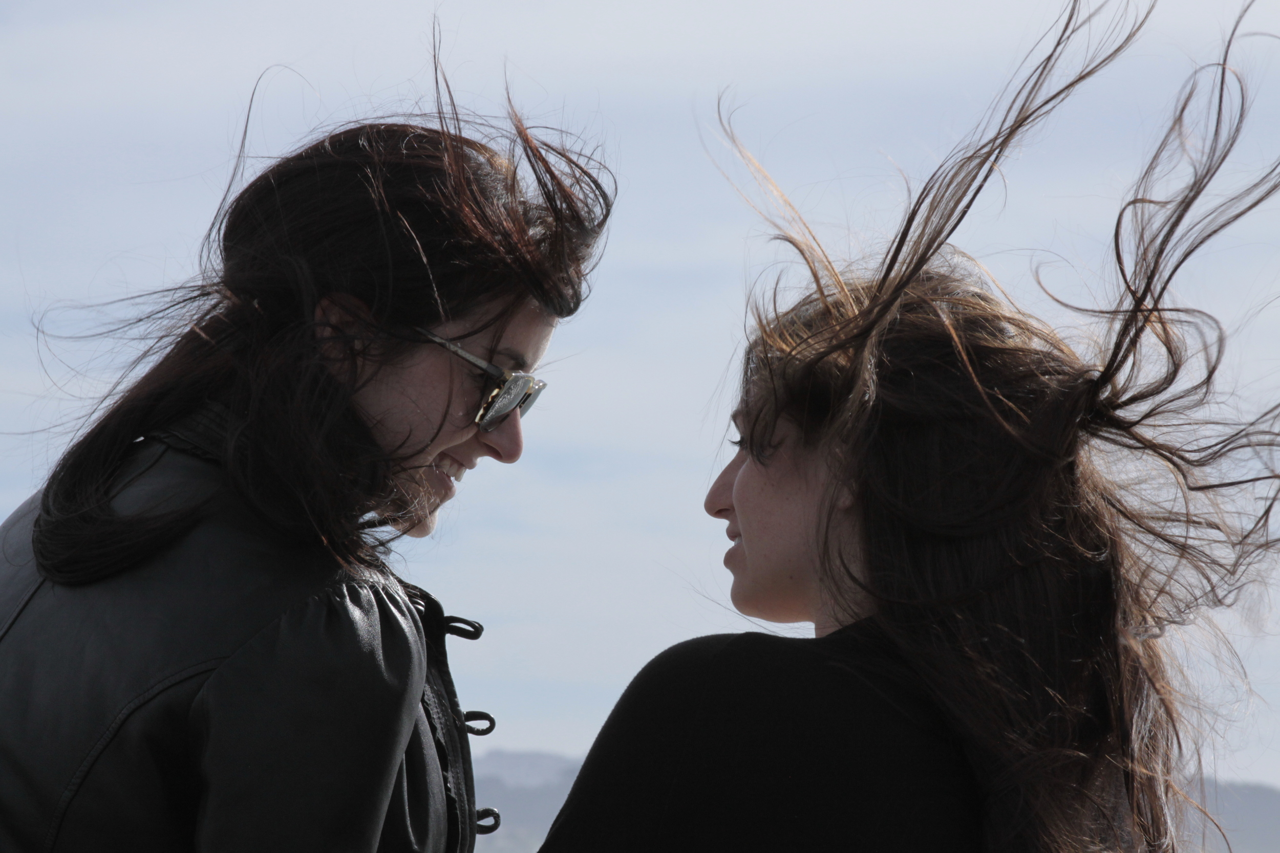 It was windy in San Francisco, coming back on the ferry from Sausalito. How does it feel to almost take off, hairs flying in the wind?