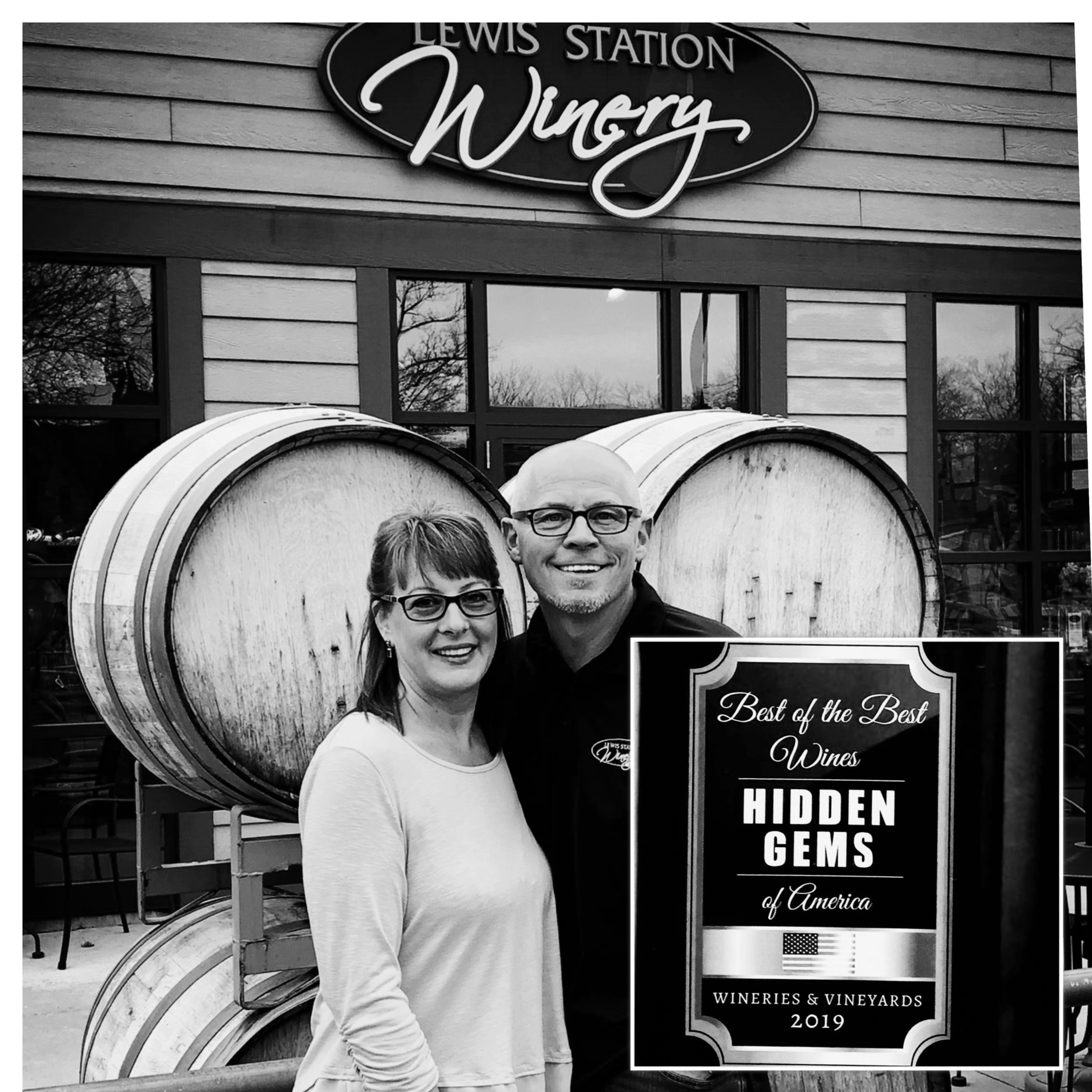 "Hidden Gems of America - 2019 - We're excited to announce that Lewis Station Winery was 1 of 40 wineries in the country to be featured in the newest release of ""Best of the Best Wines - Hidden Gems of America 2019"""