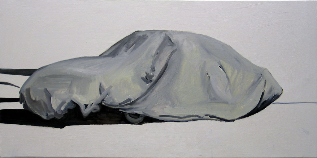 Untitled, covered car