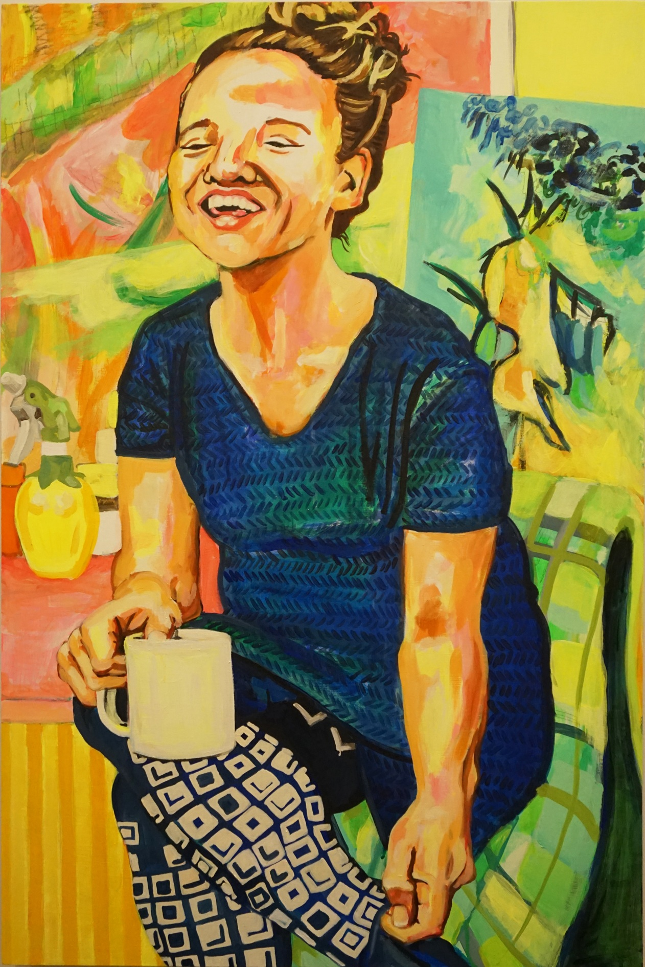 And Then Her Laughter Painted the Room (portrait of Erin Treacy)