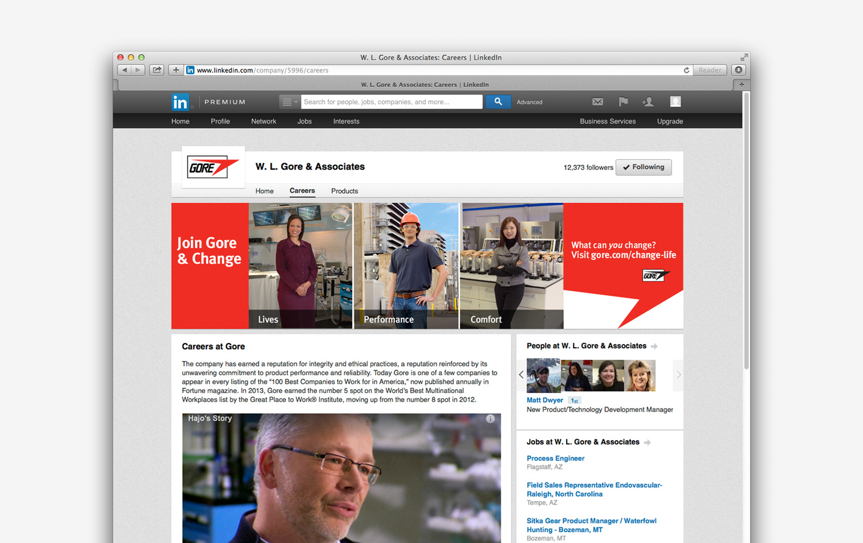 Gore employer brand web banners