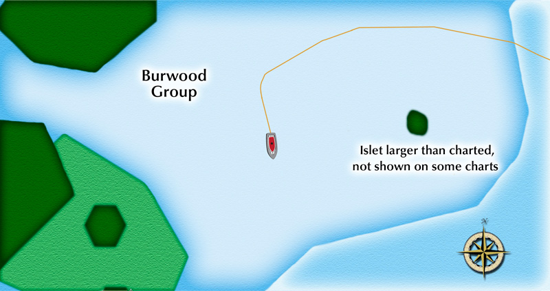 Our favorite spot to anchor in the Burwood Group