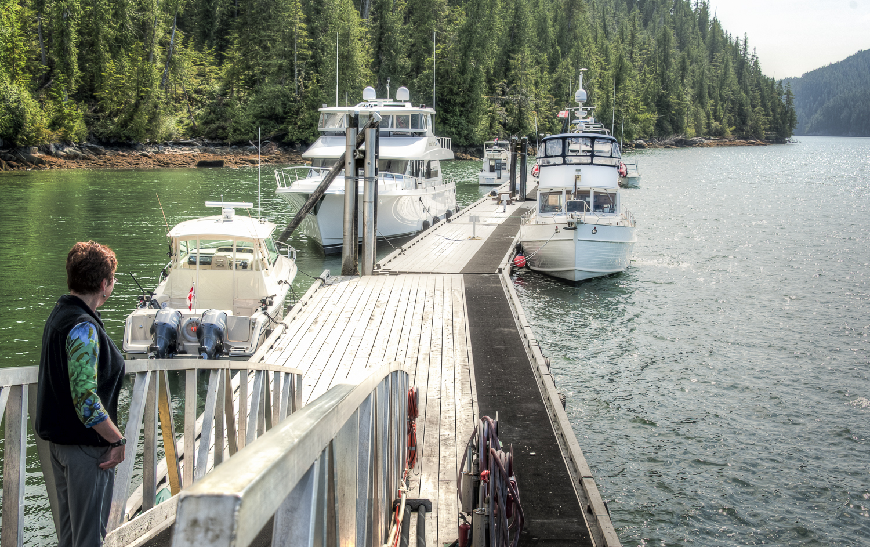 Great guest dock at Duncanby Landing
