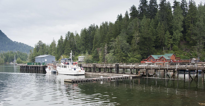 Alaskan Dream on the docks at Walters Cove