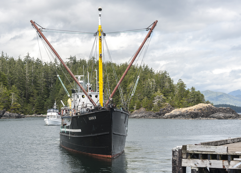 The  Uchuck III  leaving dock. We hope he has  Alaskan Dream  in sight.