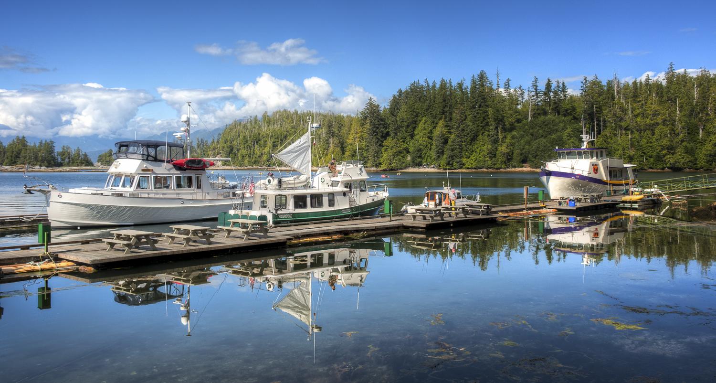 Alaskan Dream  on the docks at the Port Alberni Yacht Club