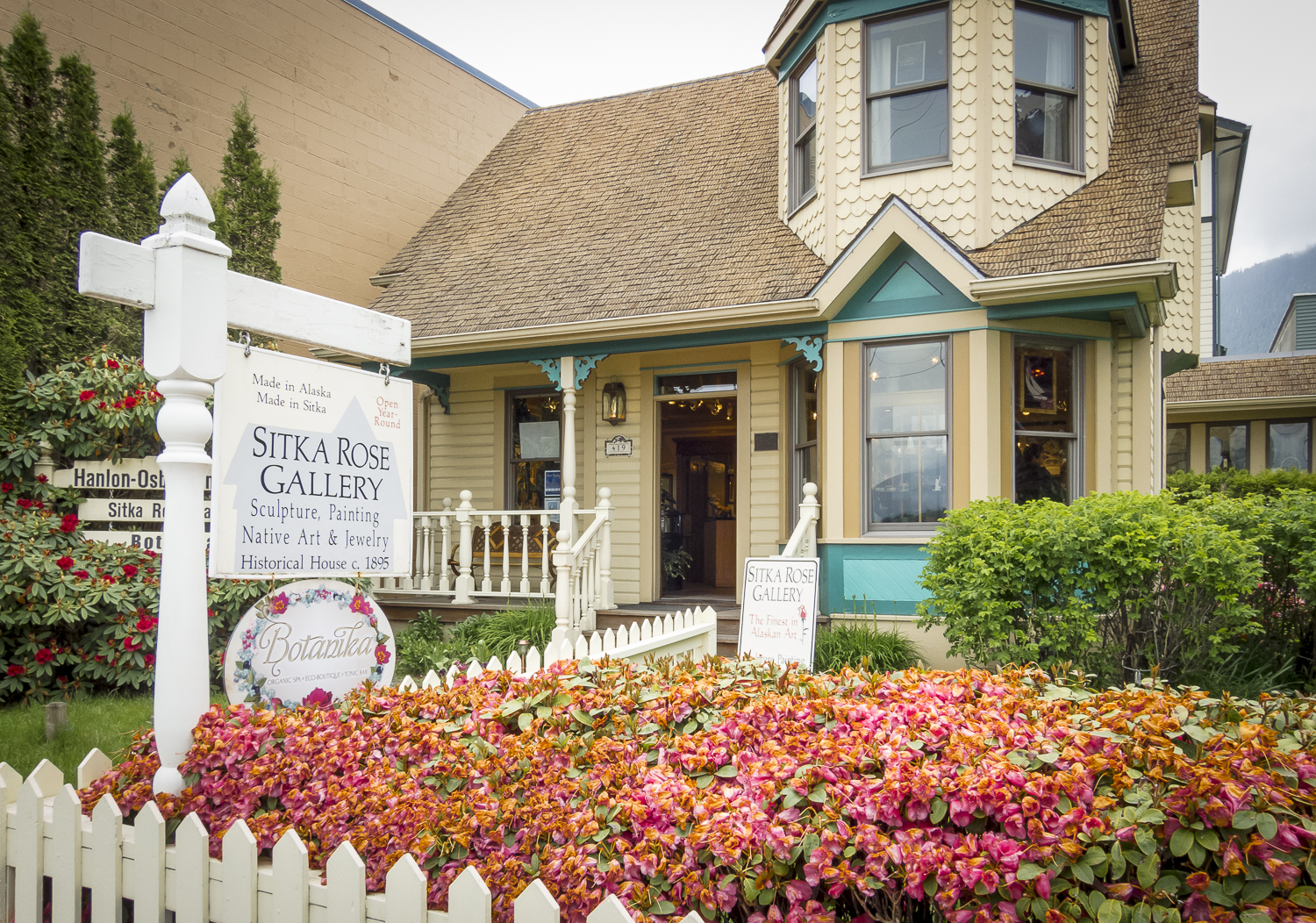 The Sitka Rose Gallery in Stika.