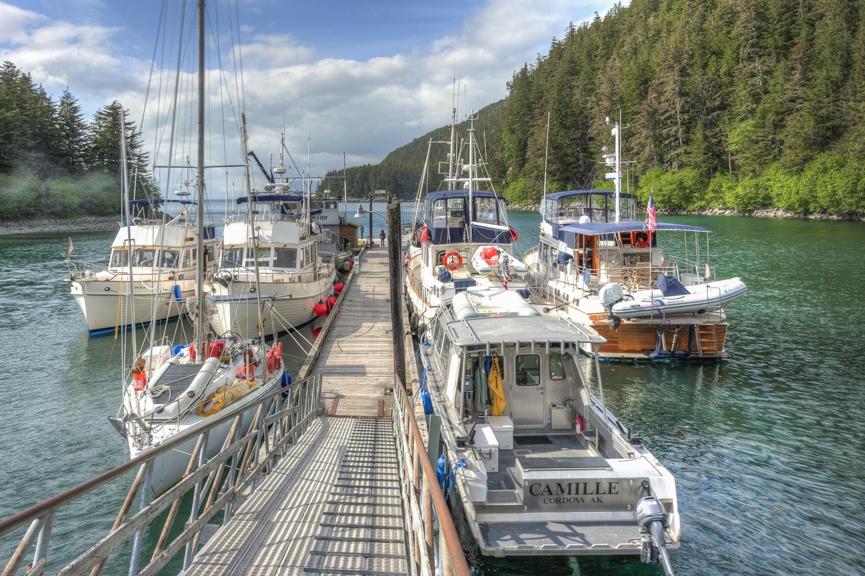 The docks at Elfin Cove.