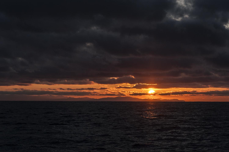 Sunset in the Gulf of Alaska