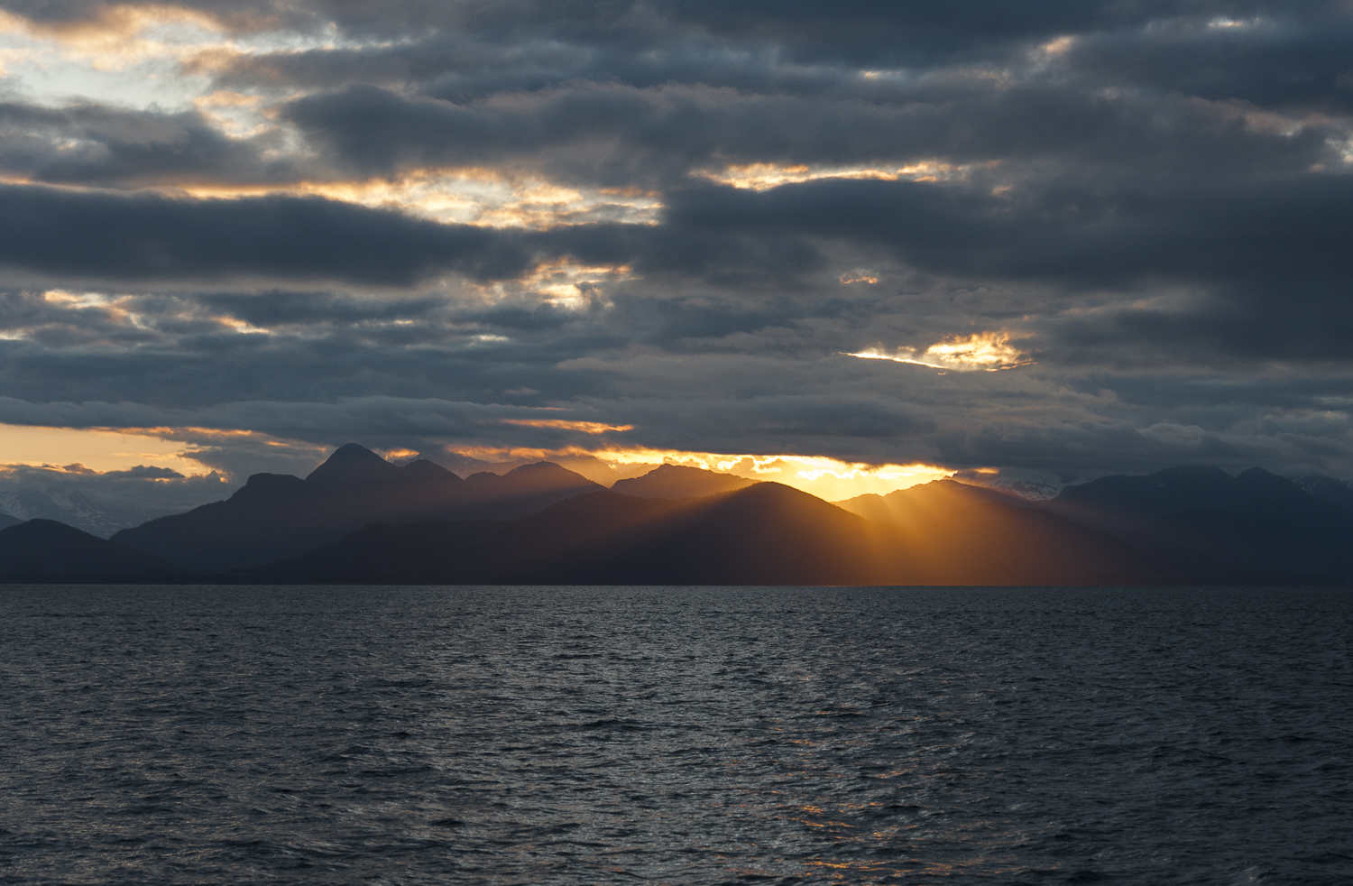 Sunrise is welcomed after an all night passage