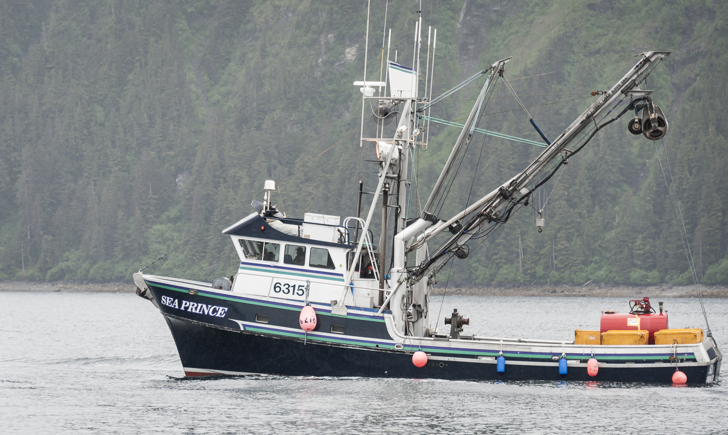 One of the thousands of fishing boats we passed in Prince William Sound