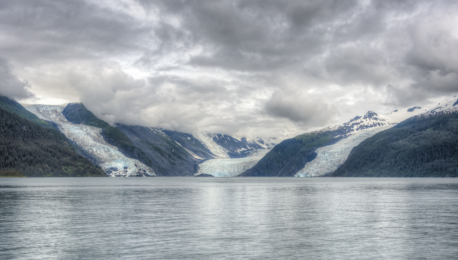The Cascade, Barry and Coxe Glaciers