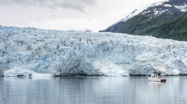 Deception  move close to the face of the Harriman Glacier