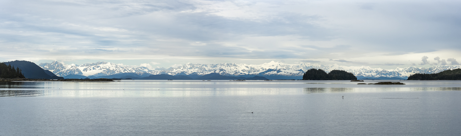 The vistas in Prince William Sound seem endless. I figured those mountains are 90 miles away.