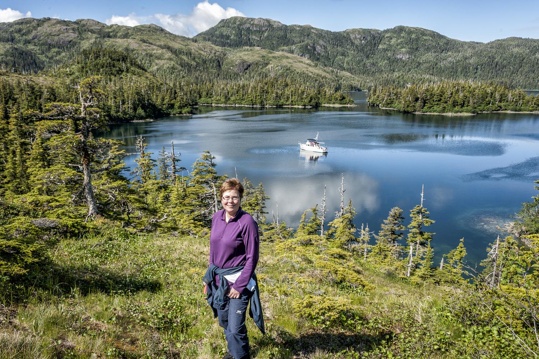 Karen at our Disk Bay overlook