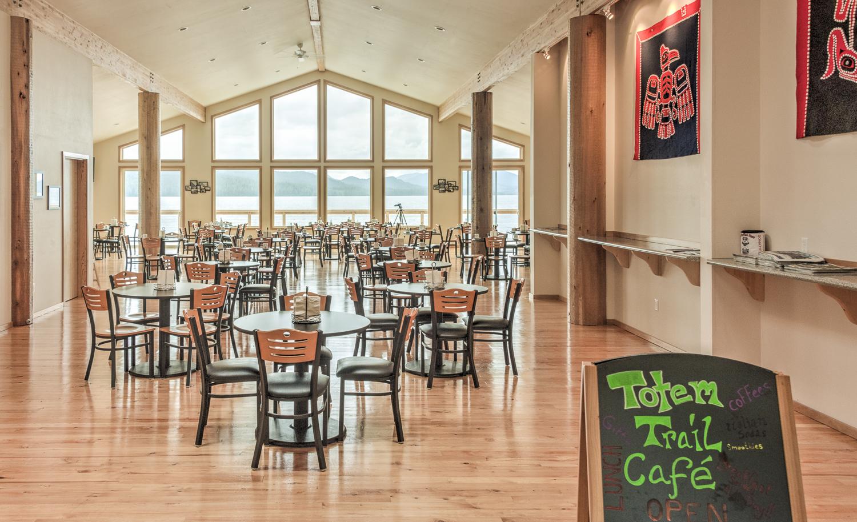 Inside the Totem Trail Café.