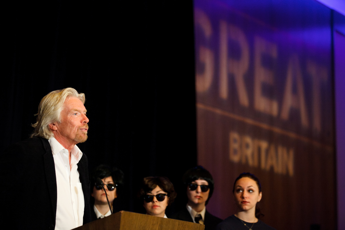 Richard Branson in Vancouver