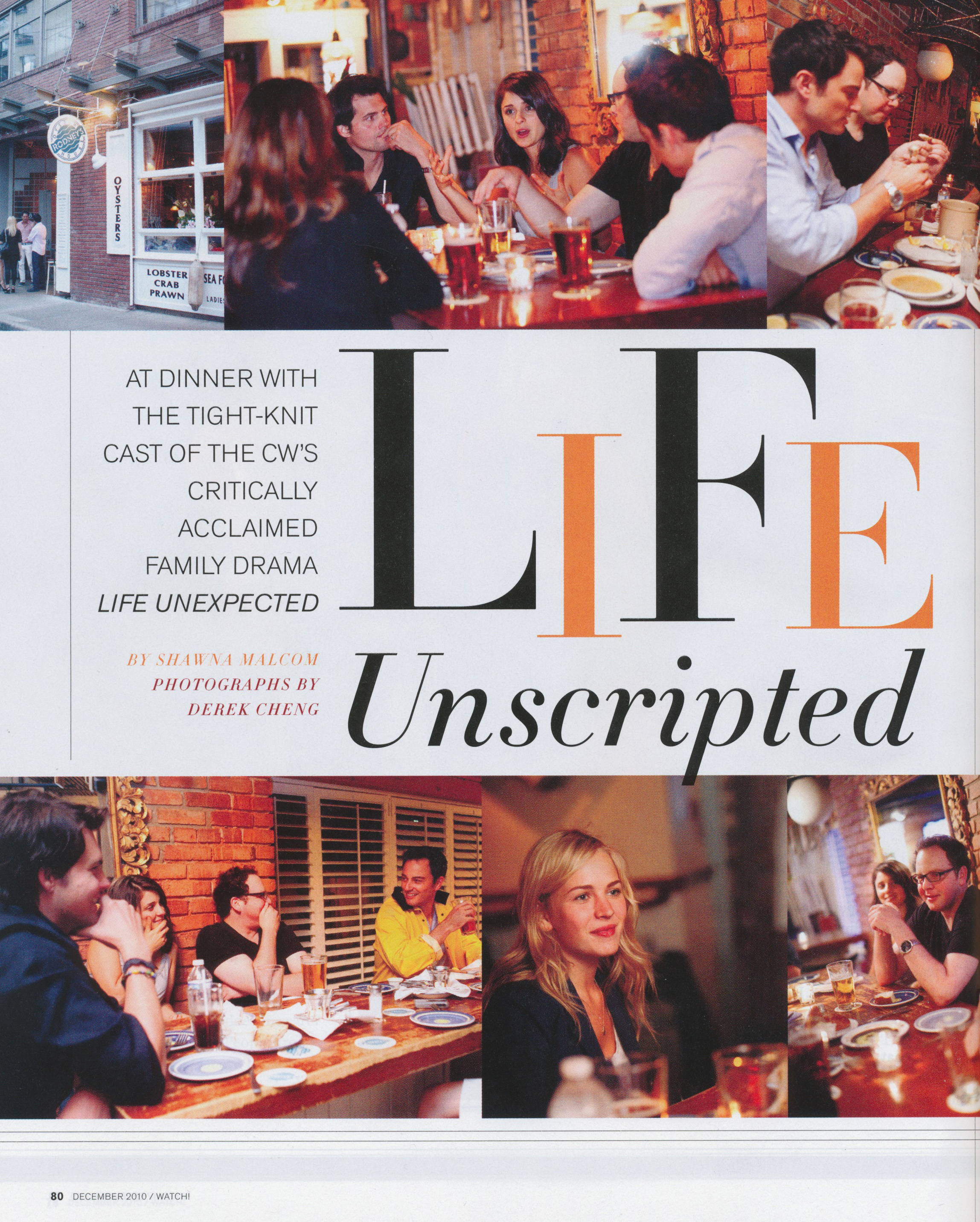 CW Life Unexpected - Published Editorial Shoot