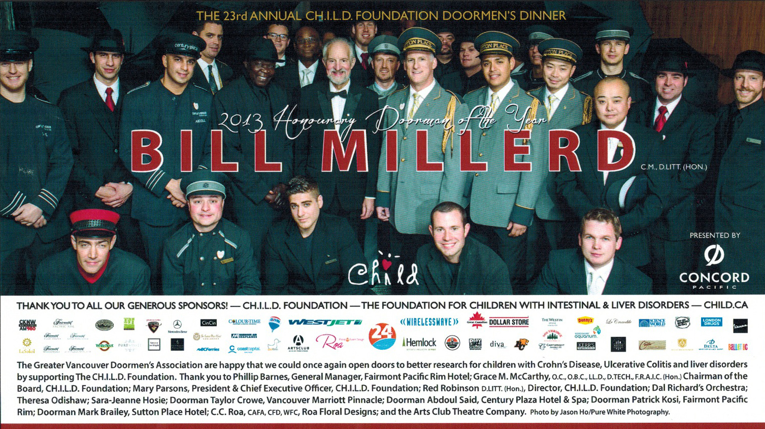 24 Hour  Newspaper has printed a page advertisement congratulating the support for the CH.I.L.D. Foundation!