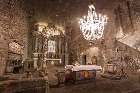 Kapellet i saltgruvene i Wieliczka er utrolig vakkert