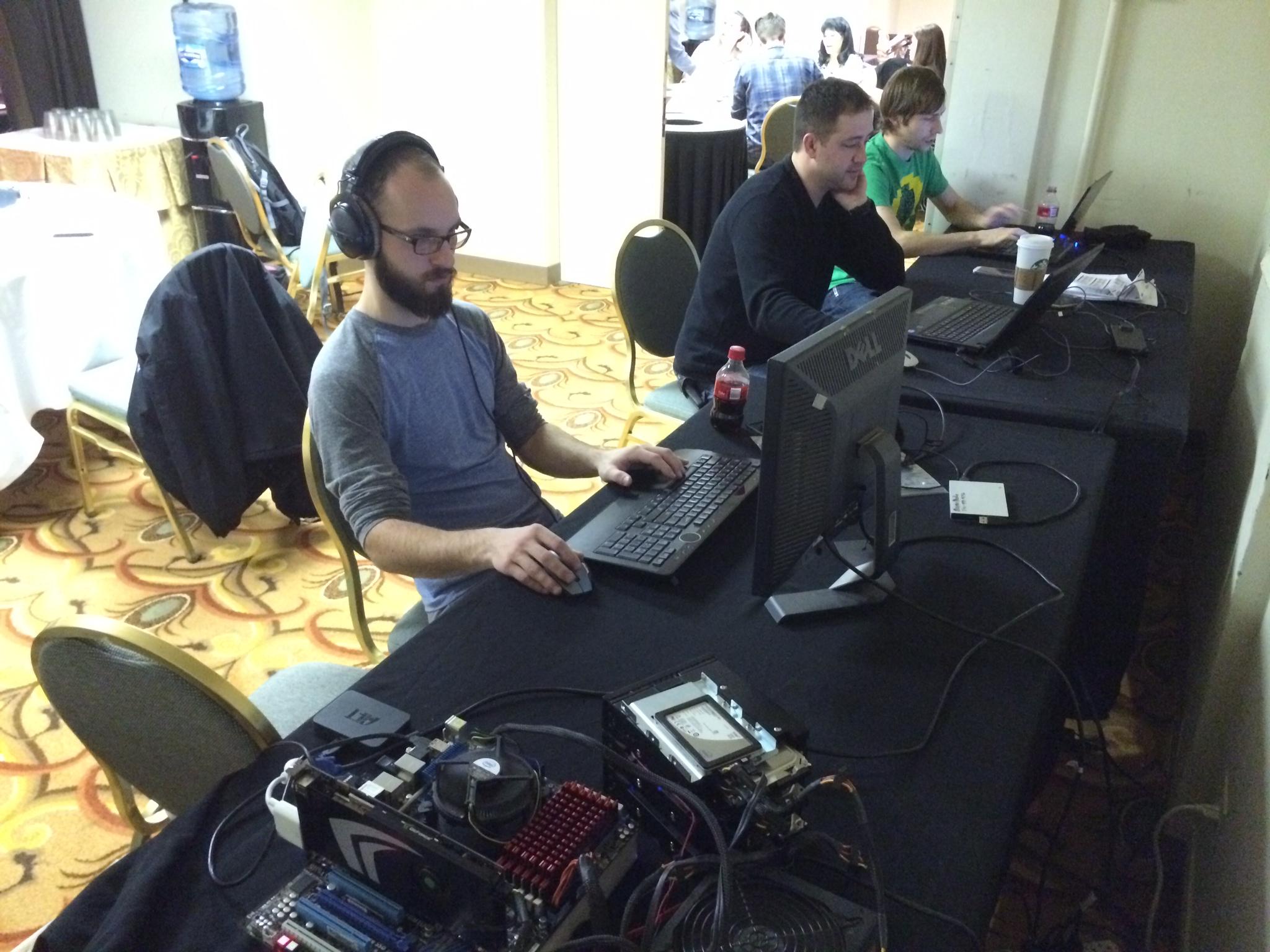 Tech team hard at work